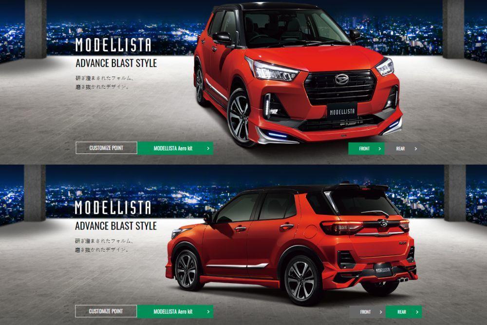 Modellista Body Kit, Perodua Ativa 2021, Perodua D55L, Daihatsu Rocky, Advance Blast Style