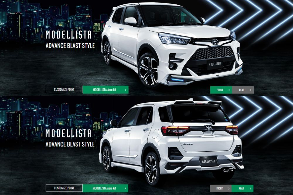 Modellista Body Kit, Advance Blast Style, Toyota Raize, Perodua Ativa 2021
