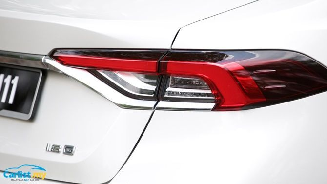 An Evergreen Experience Review 2020 Toyota Corolla 1 8 G Rear Tail Light