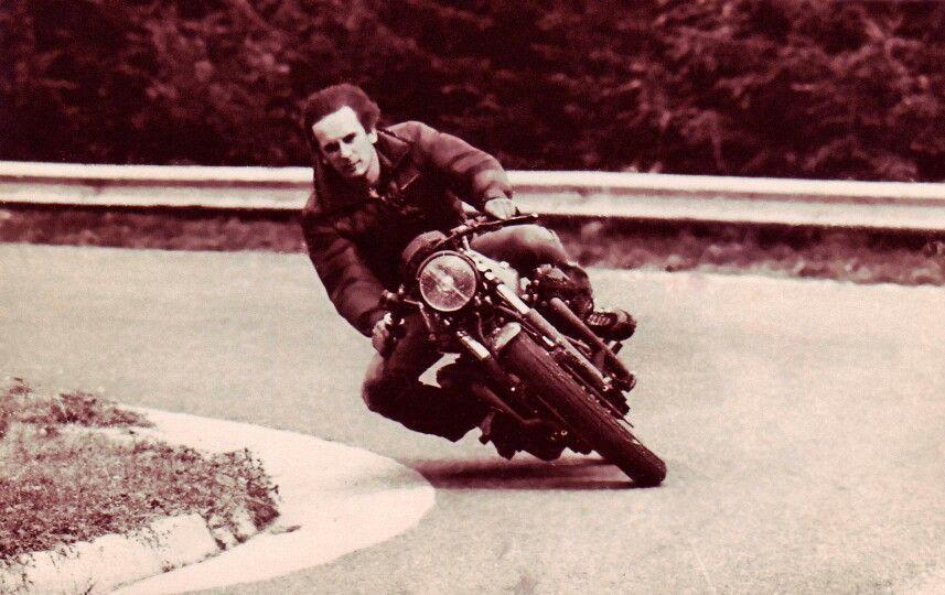 Igor Akrapovič on a motorbike
