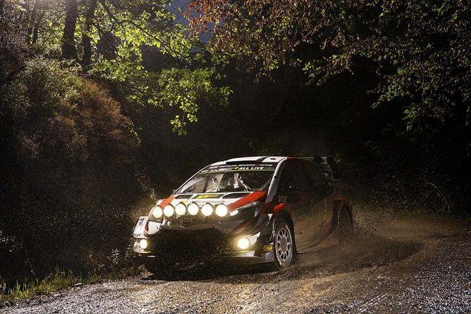 The History Of Adaptive Headlights Toyota Yaris WRC Rally Headlights Night