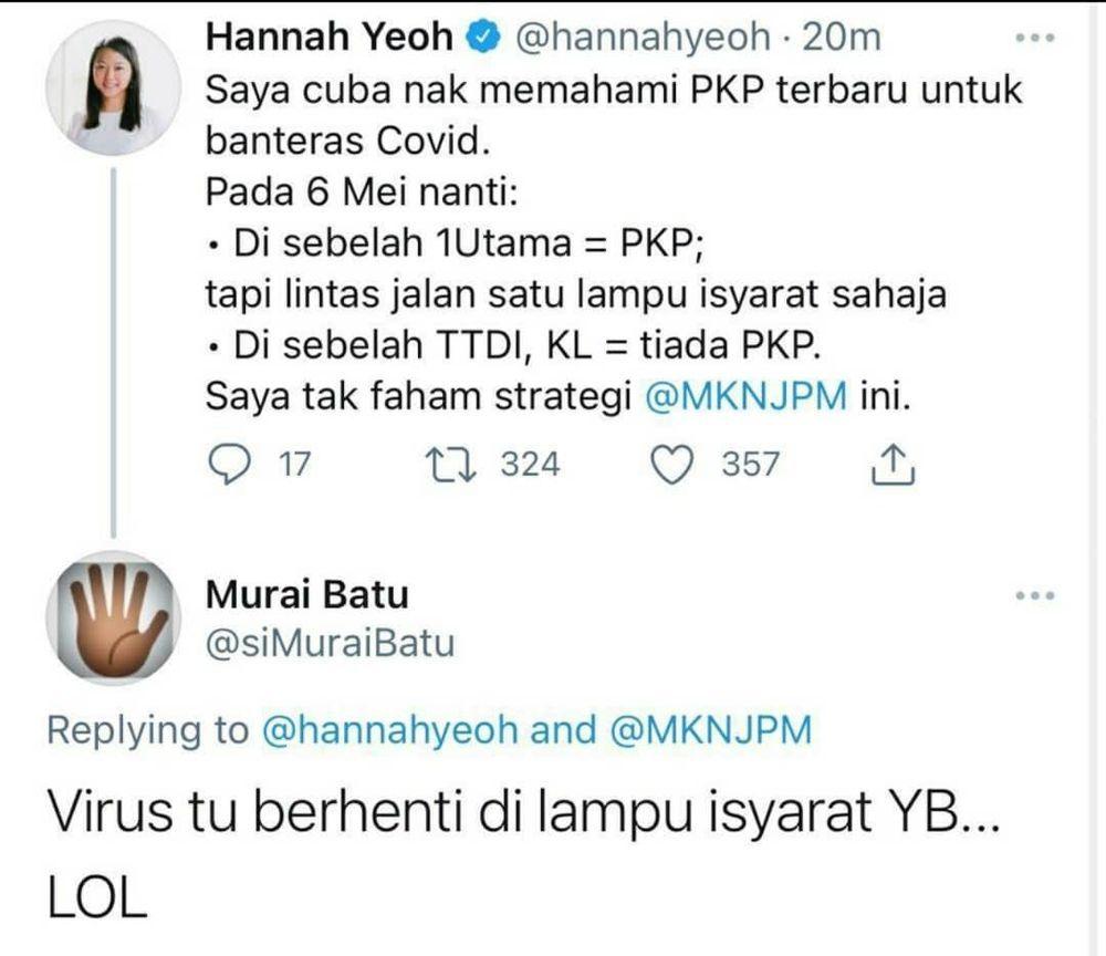 Hannah Yeoh MCO 3.0 Twitter