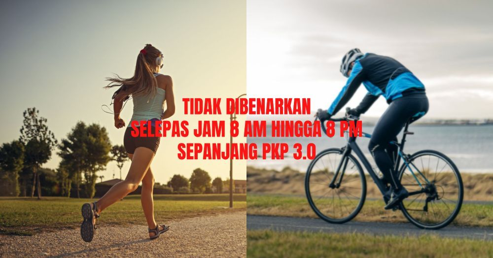 larangan,PKP 3.0,aktiviti sukan,jogging,basikal