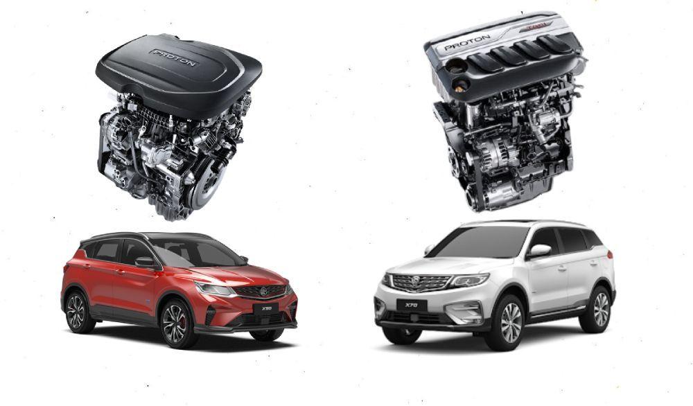 Proton x50,proton x70,1.5L,1.8L,TGDI,enjin,facelift