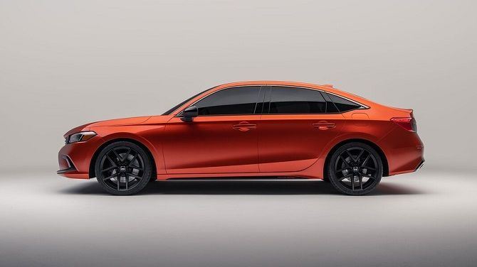 Honda Unveils Production Image Of the Next Generation Civic Prototype Side