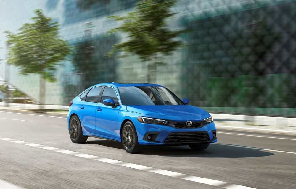 2022 Honda Civic hatchback exterior