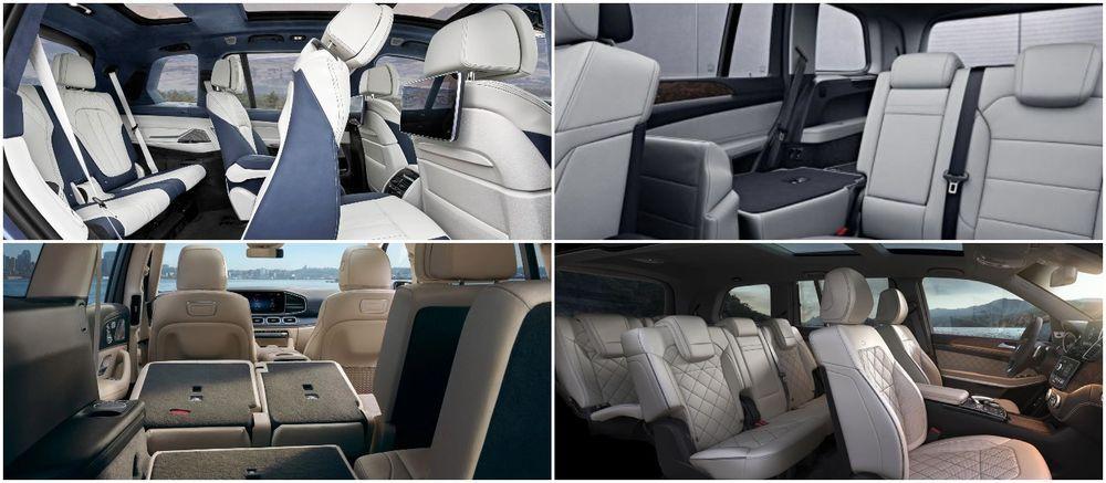 BMW X7 and Mercedes-Benz GLS seat configuration