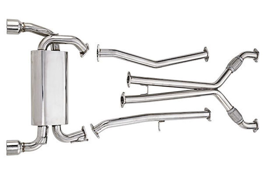 Exhaust system for a motorbike
