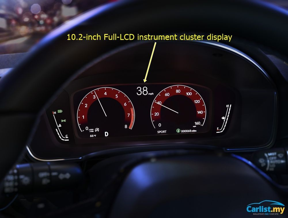 2022 All-New USDM Honda Civic cluster