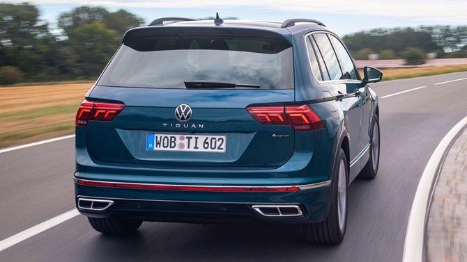 Volkswagen To Unveil Facelifted Tiguan Allspace Tiguan Facelift Rear