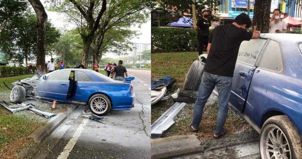 Nissan SKyline GT-T R34,kemalangan,insurans kereta,pihak ketiga