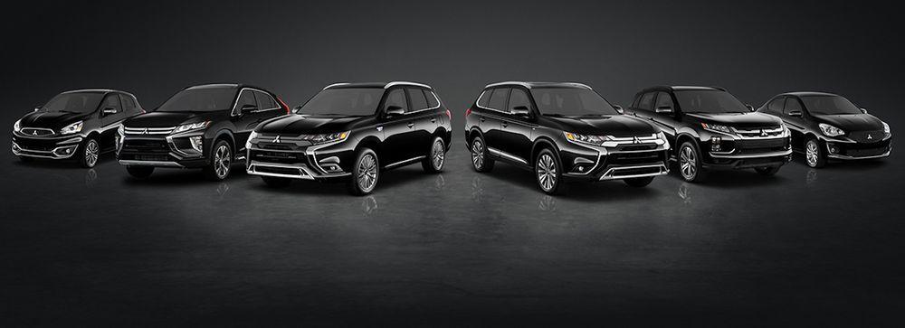 Mitsubishi line-up of cars