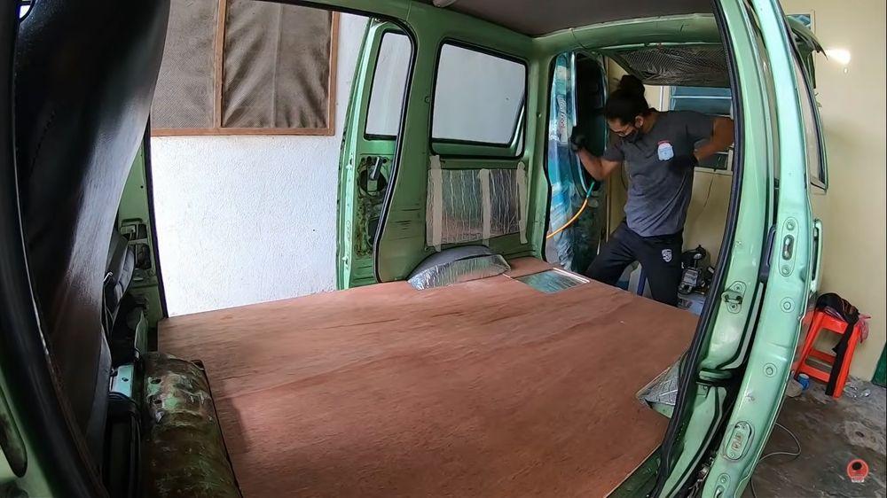 interior campervan dihatsu hijet s85, plywood,