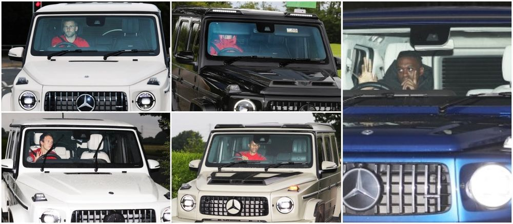 Manchester United Players and their G-Wagon