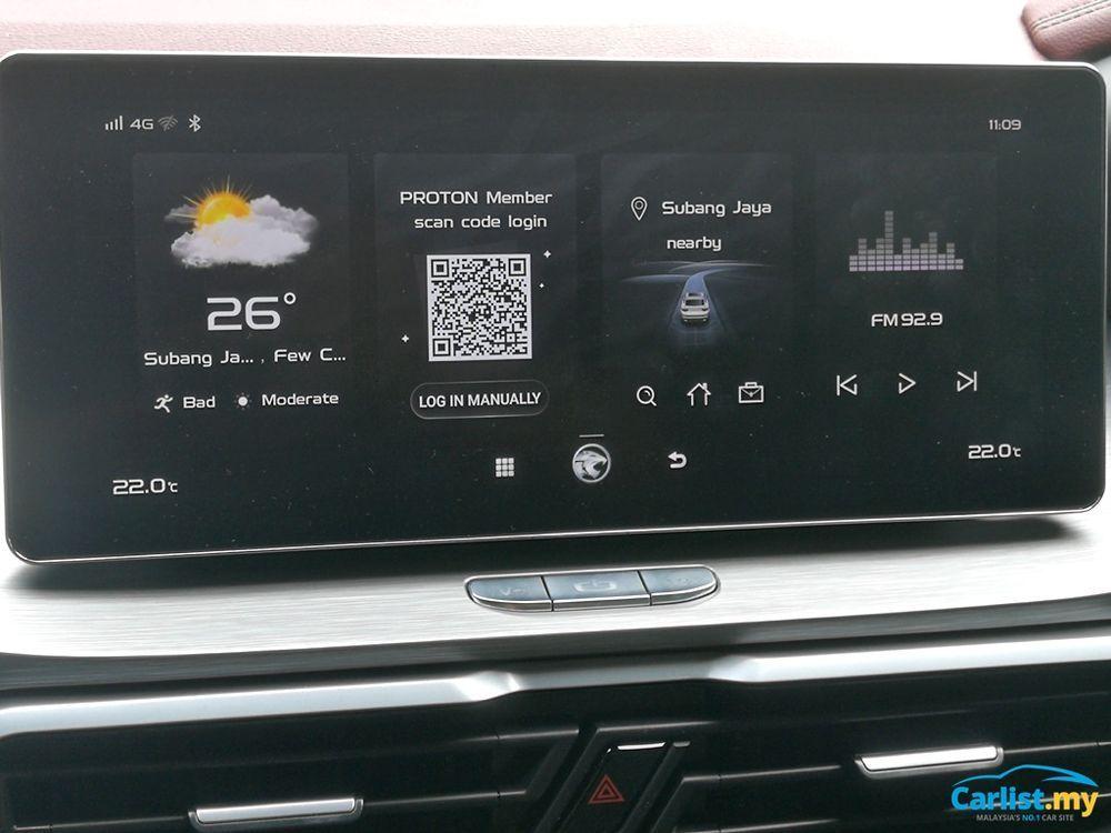 2020 Proton X50 GKUI19 Infotainment