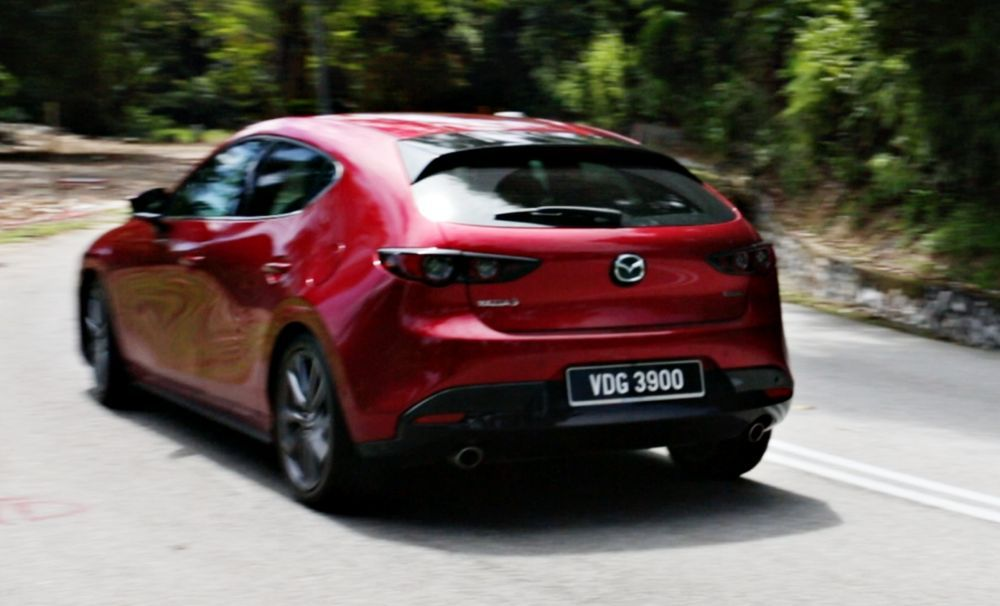 2020 Mazda 3 Liftback - Drive By - Rear