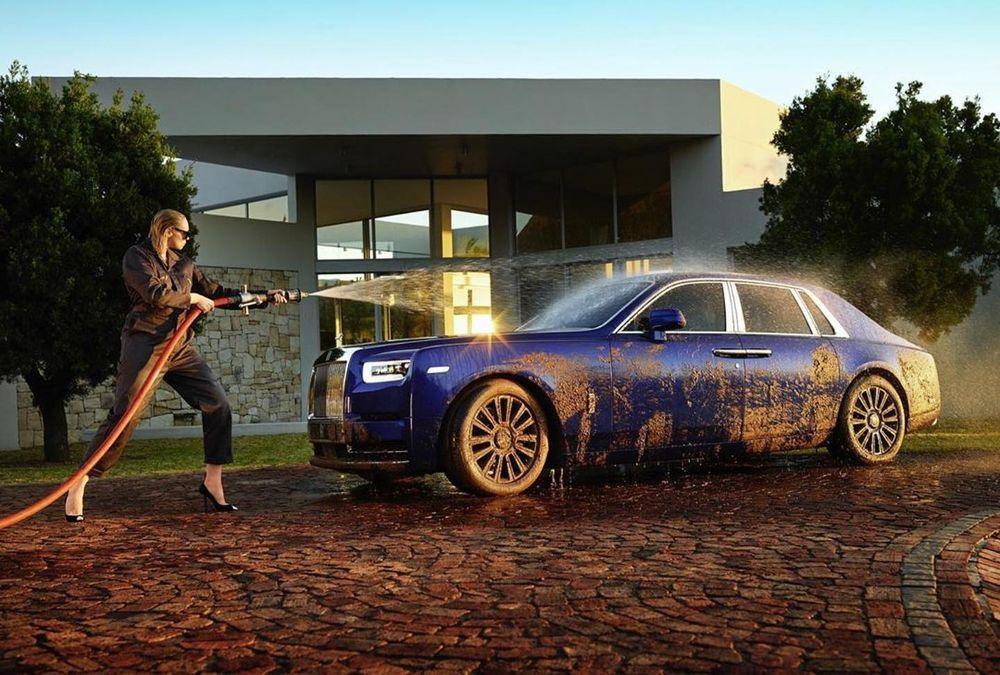 Washing A Rolls Royce