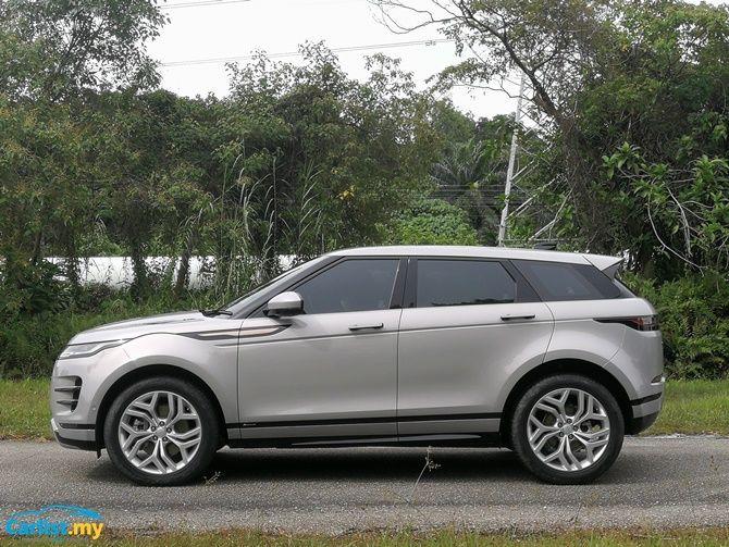 2020 Range Rover Evoque side view
