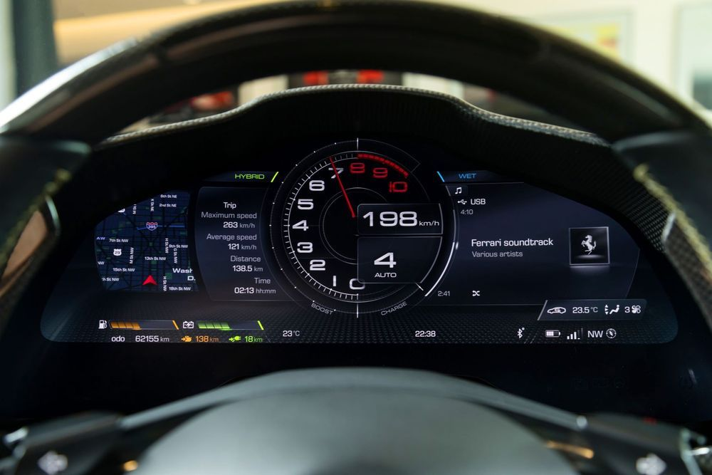 2020 Ferrari SF90 Stradale Electronic Instrument Cluster