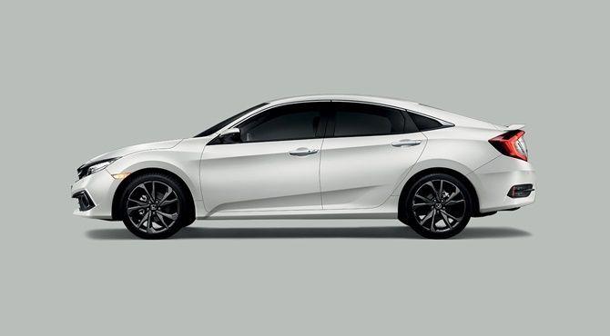 2020 Honda Civic vs 2020 Toyota Corolla Civic Side View