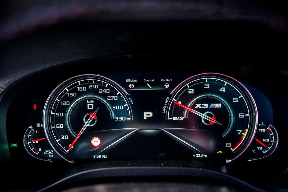 bmw x3m competition speedometer