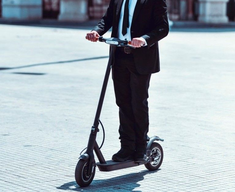 E-scooter to the office