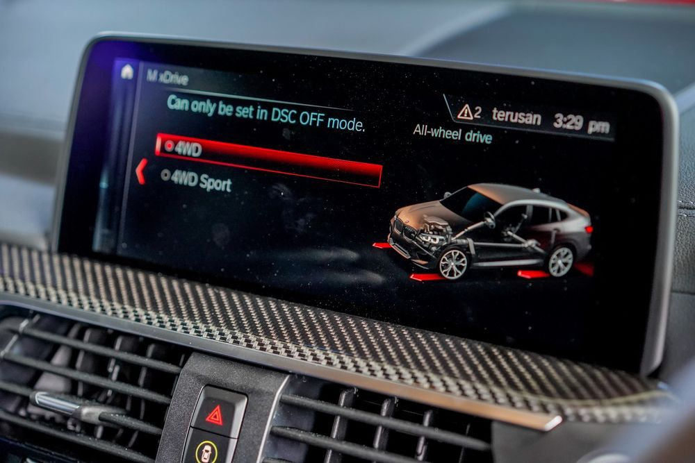 bmw x4m competition drive mode