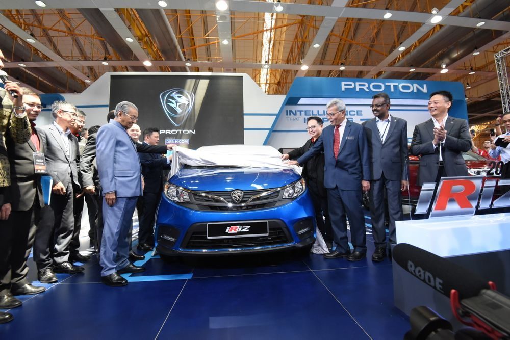 Mahathir unveiling Iriz