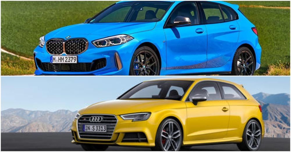 Audi S3 2021 and BMW M135i