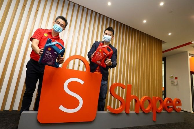 Shell Malaysia selling lubricants on Shopee