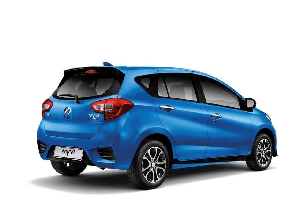 new perodua myvi electric blue 2020