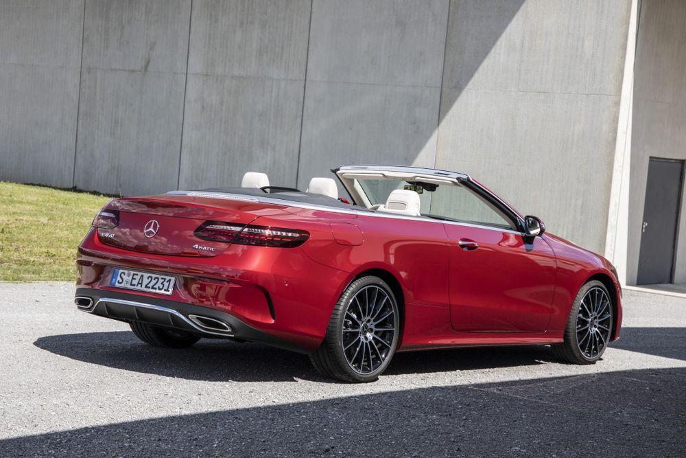 2020 mercedes-benz e-class cabriolet rear