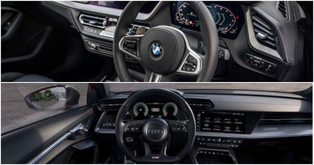 Audi S3 and BMW m135i interior