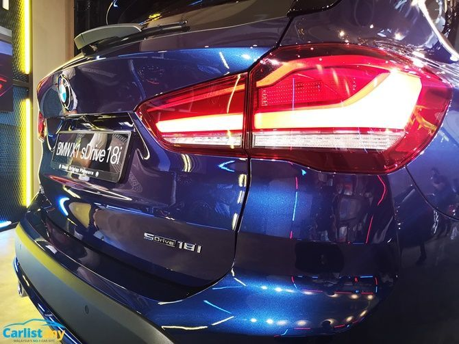 BMW Launches X1 sDrive18i Locally RM 208368 Tail Lights