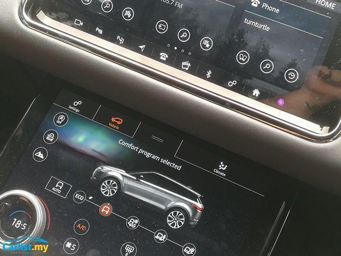 2020 Range Rover Evoque climate control