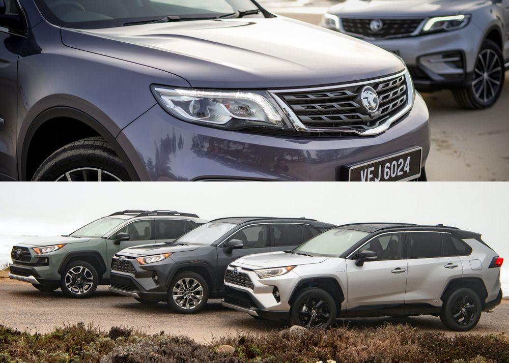 Toyota RAV4 vs Proton X70