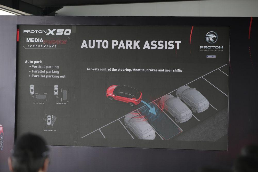 Proton X50 Media Drive Auto Park Assist