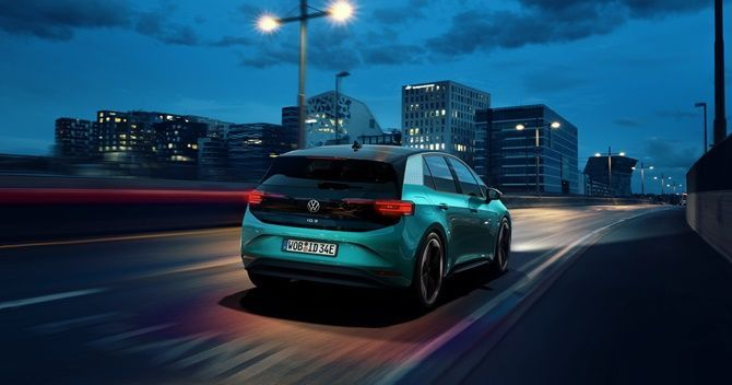The Future Is Now Volkswagen ID3 Goes On Sale Rear Moving