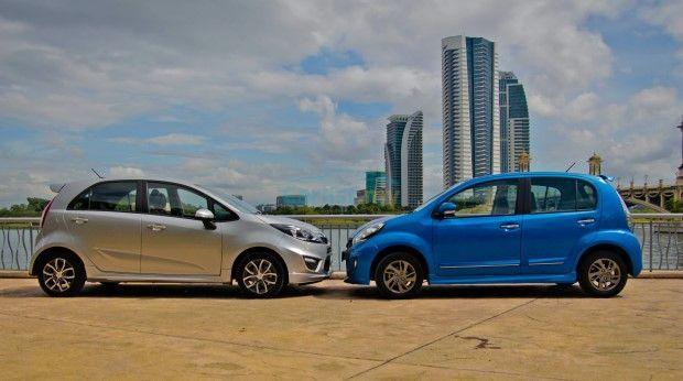 Perodua Myvi Lagi Best vs Proton Iriz
