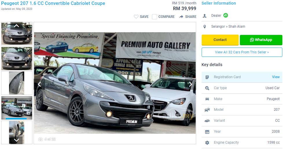 Peugeot 207 CC Convertible