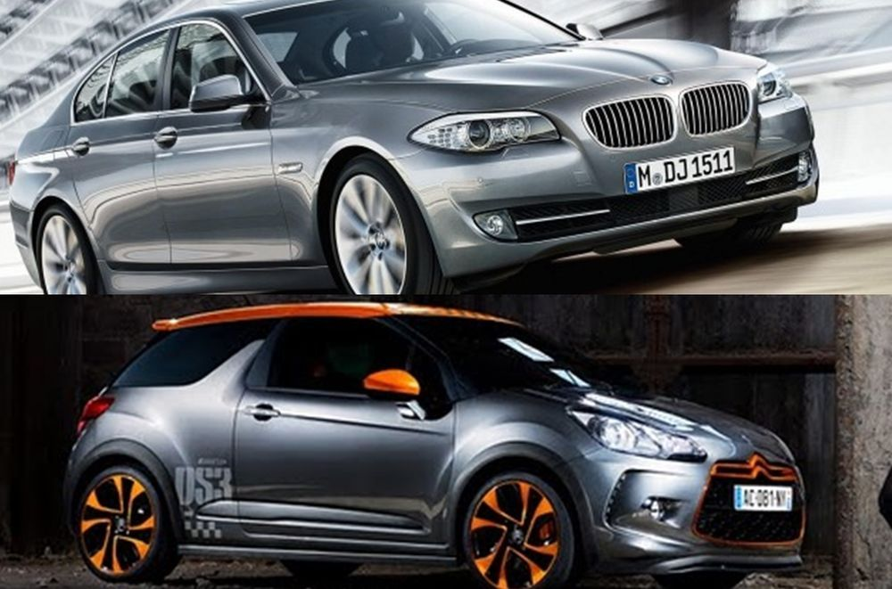 BMW 5 series Citroen DS3