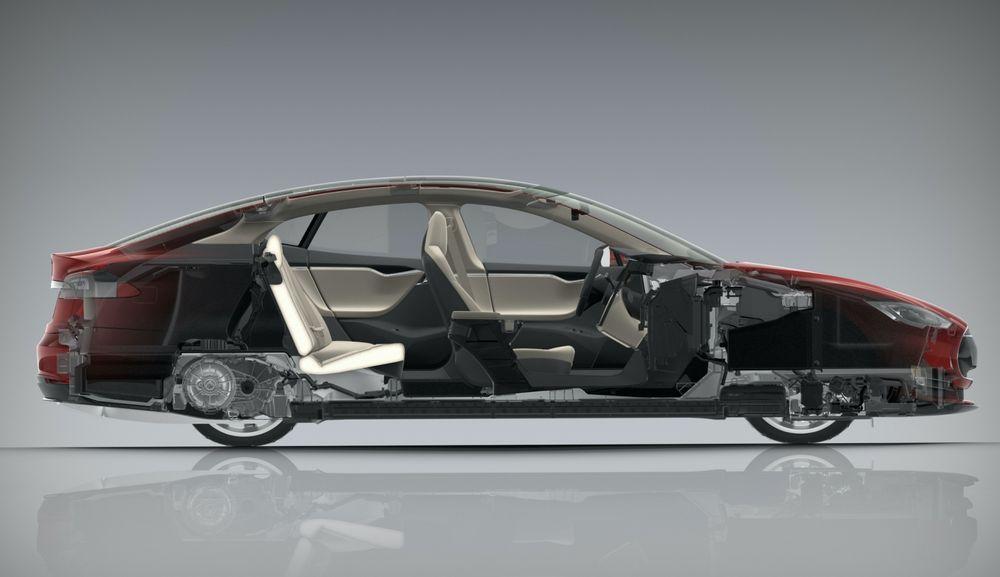 Tesla Model S Cutaway