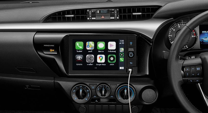 2020 toyota hilux apple carplay android auto