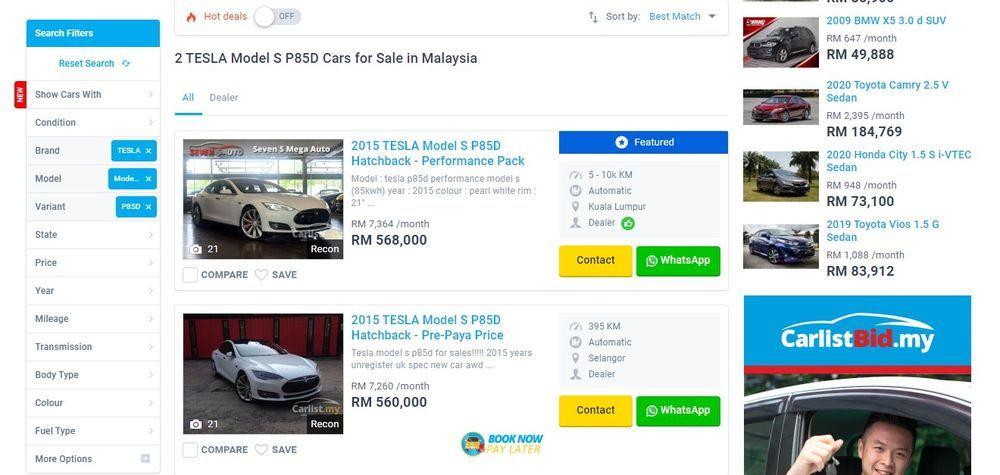 Tesla carlist Malaysia