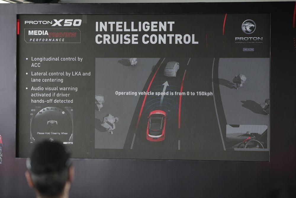Proton X50 Media Drive Intelligent Cruise Control