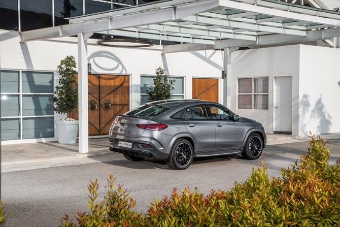 Mercedes Benz Expands Their SUV Range With The GLE Coupe and GLS Rear Three Quarter