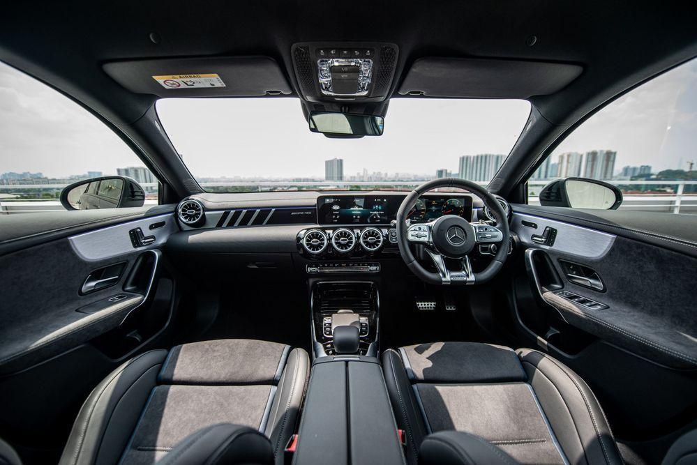 BMW M135i VS Mercedes-AMG A35 Interior A35