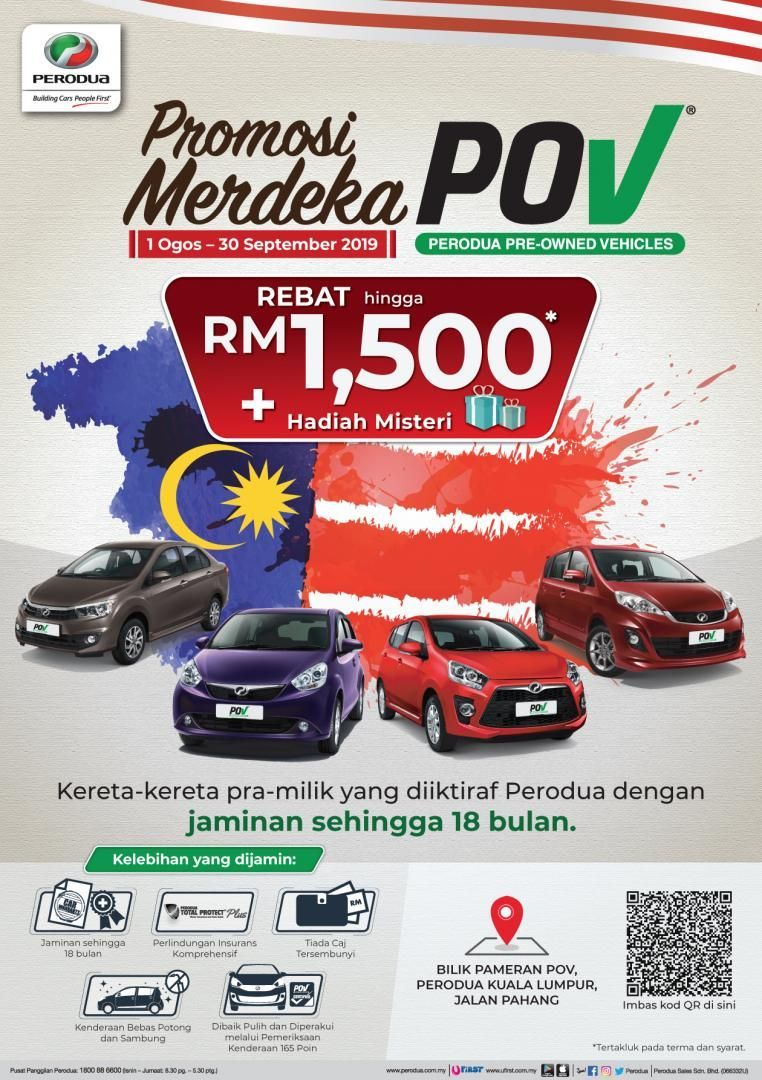 Merdeka Special Buy A Pre Owned Perodua Get Cash Rebates And Even A Mystery Gift Auto News Carlist My