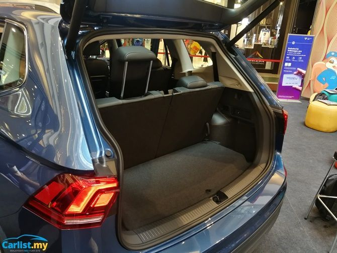 Volkswagen Launches Tiguan Allspace Seven Seater From RM 165000 Boot Space