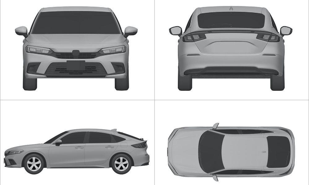 2021 Honda Civic - Patent Filing - Hatch